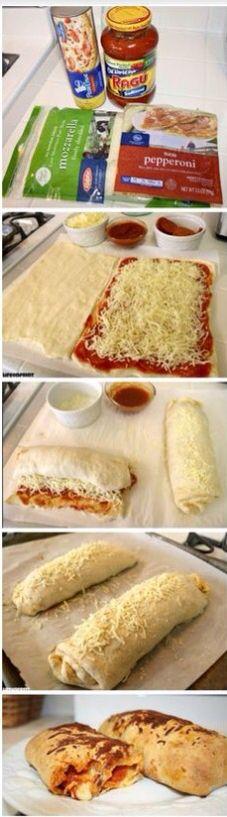 Long pizza rolls