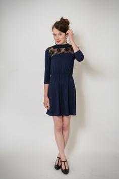 Blaues Jerseykleid / blue dress by Ave evA via DaWanda.com