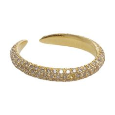 Eva Fehren Pale Champagne Diamond Claw Ring