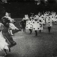 """Alice in Wonderland"", 1903.  The first film adaptation of Alice's Adventures in Wonderland was an eight-minute silent film short."