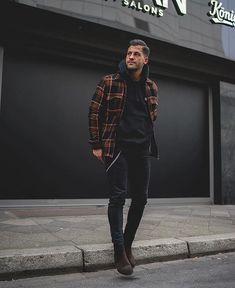 Mens Winter Fashion Tips Mens Fashion Blog, Dope Fashion, Fashion Styles, Street Fashion, Fashion Boots, Fashion Ideas, Fashion Bella, Teen Guy Fashion, Swag Fashion