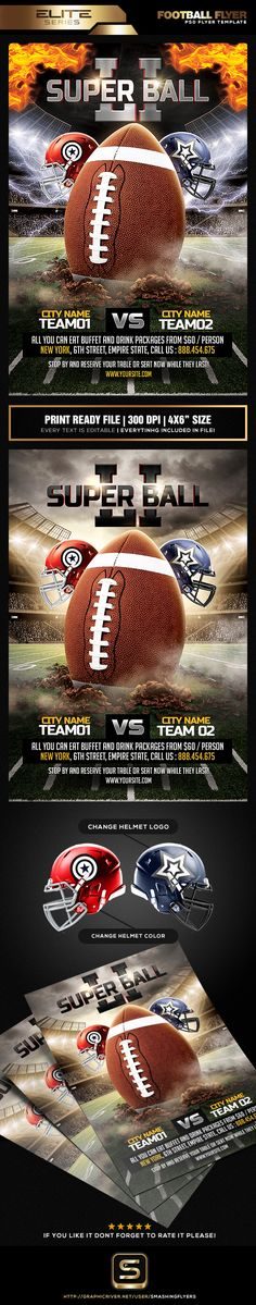 Football Flyer Flyer template, Event flyers and Fonts