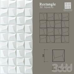 3d модели: Лепнина - 3D Панели Degesso (Rectangle)