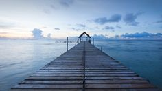 Jetty to the sea at Mauritius