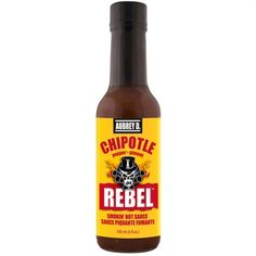 Hot Smoky Flavor of Succulent Chipotle, Jalapeno and Habanero in Aubrey D. Rebel Chipotle Hot Sauce, Perfect for zesty cooking! Marinade Sauce, Chipotle Pepper, Types Of Food, Food Gifts, Hot Sauce Bottles, Soups And Stews, Spice Things Up, Gourmet Recipes, Rebel