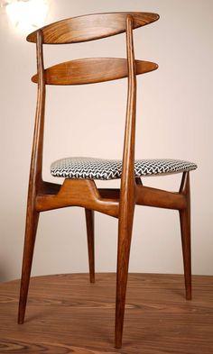Anonymous; Jacaranda Dining Chair,1950s.                                                                                                                                                     More