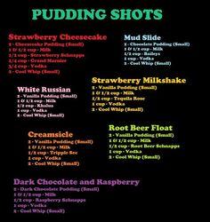 Explosion Dessert Pudding Shots for grown folks! I'm gonna make big bowls instead of shots! lolDessert Pudding Shots for grown folks! I'm gonna make big bowls instead of shots! Pudding Desserts, Pudding Shot Recipes, Jello Pudding Shots, Desserts Keto, Cheesecake Pudding, Jello Shot Recipes, Alcohol Drink Recipes, Jello Shots, Alcohol Shots