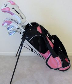 Girls Junior Golf Club Set with Stand Bag for Kids Ages 8-12 Pink Color Right Handed Premium Professional Quality at http://suliaszone.com/girls-junior-golf-club-set-with-stand-bag-for-kids-ages-8-12-pink-color-right-handed-premium-professional-quality/