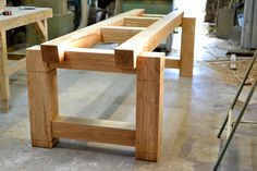 Huge sustainable oak dining table base made by Makers Bespoke Furniture.
