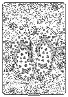 Printable Flip Flops Pdf Coloring Page. High quality free printable coloring, drawing, painting pages here for boys, girls, children . Beach Coloring Pages, Leaf Coloring Page, Free Kids Coloring Pages, Fall Coloring Pages, Printable Adult Coloring Pages, Doodle Coloring, Coloring Pages To Print, Coloring Books, Colouring Sheets For Adults