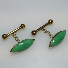 18k gold and Jade cufflinks $400