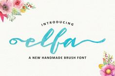 Introduction Elfa Brush Font! Elfa Brush designed by Fittingline Type Supply, this is a premium font, are sold on creativemarket, but it was great, it...