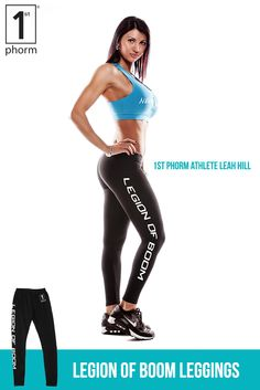 These are the classic style leggings with a little baddass attitude added in! We have placed out Legion of BOOM slogan down one leg to give it some attitude. #1stphorm #legionofboom #neversettle #fitness #gym #apparel #leggings