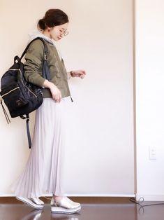プチプラコーデです(^ ^)♡ トラッドシューズをプリーツスカートにも合わせたくて。