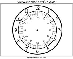 CLOCK FACES~  Free printable clock faces with variations that include minutes.