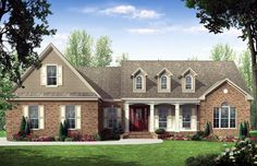 Country Ranch Traditional Elevation of Plan 59137