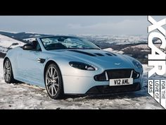 Xcar tackles winter in an Aston Martin V12 Vantage S Roadster