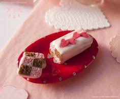 Valentine's Battenberg Cake - Dollhouse miniature in 1:12 scale by Hummingbird Miniatures, via Flickr