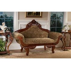 Buy Now U0026 Find Savings Extended Design Toscano Parlor Settee .