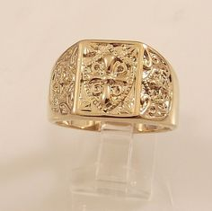 Mens 14K Gold Overlay Ring~Size 11~ Free Gift Box