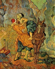 The Good #Samaritan (after #Delacroix)1890 Vincent #vanGogh