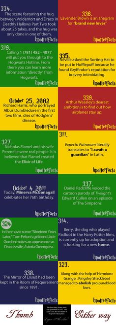 OMG I love HP facts ♥