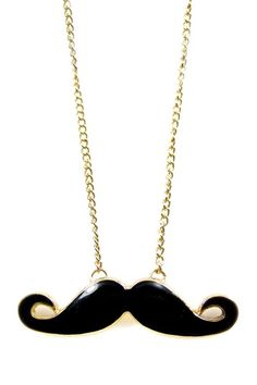 Small Stache Pendant Necklace by Eye Candy Los Angeles on @HauteLook