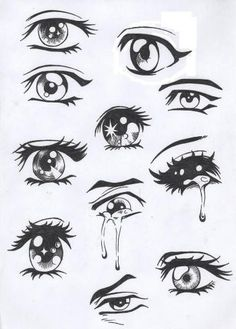 Easy Anime Drawing Eyes - Easy Anime Eyes To Draw Girl Anime Hair Sketches Drawings Easy Drawing Manga Eyes Part Ii Risovat Glaza Risovanie Glaza How To Draw Anime Eyes Step By. Drawing Eyes, Drawing Sketches, Painting & Drawing, Sketches Of Eyes, Drawings Of Eyes, Drawings Of Girls, Pencil Drawings, Cartoon Eyes Drawing, Lips Sketch