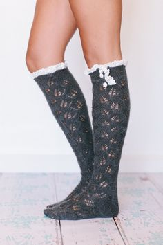 Lacy Knitted Mohair Boot Socks, how great would these be with boots?