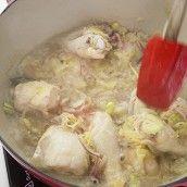 Курица в белом вине в тайском стиле