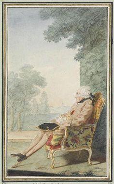 Louis Léon Potier, Marquis de Gandelus puis 4e. Duc de Gesvres, Pair de France (1695-1774), Chevalier de l'Ordre de Saint-Louis. / By Carmontelle.