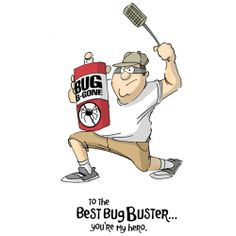 """Oozak.com   ART IMPRESSION   AIM4374   ART IMPRESSIONS Cling Rubber Stamps - Father's Day 4""""x5"""", BUG BUSTER"""
