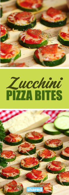 Zucchini Pizza Bites Are Guilt-Free for Pizza Lovers - To try new - Pizza Healthy Salad Recipes, Low Carb Recipes, Diet Recipes, Cooking Recipes, Pizza Recipes, Recipies, Zucchini Pizza Bites, Easy Party Food, Bariatric Recipes