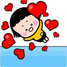 Love Heart Gif, Cute Love Gif, Animated Love Images, Animated Gif, Rugrats, Line Sticker, Art Sketches, Art Girl, Cute Babies