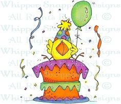 """Happy """"Bird""""day - Birthday Images - Birthday - Rubber Stamps - Shop"""