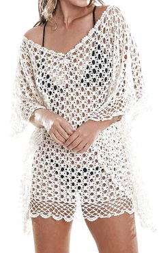 Beautiful blouse or poncho in crochet that you will want . Beautiful blouse or poncho in crochet that you will want . Cardigan Au Crochet, Crochet Cardigan, Crochet Shawl, Crochet Stitches, Crochet Patterns, Pull Crochet, Mode Crochet, Knit Crochet, Crochet Woman