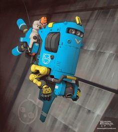 The Pictomancer: Flying robo thing by André Brown Mealha