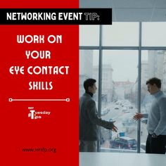 Work on Your Eye Contact Skills - Networking isn't easy, but eye contact can help people remember your name. You don't need to stare deeply into another person's eyes, but do listen carefully and demonstrate genuine interest in what the person is saying. #networkingevents #businessevents #business