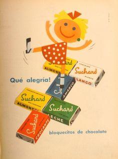 Bloquecitos suchard.. Vintage Advertising Posters, Vintage Advertisements, Vintage Ads, Vintage Images, Vintage Posters, Kids Poster, Poster Ads, Swiss Chocolate, Old Ads