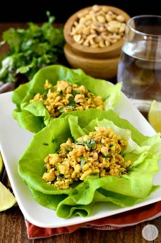 20 Minute Chicken Satay Lettuce Wraps have all the flavor of Chicken Satay with Peanut Sauce but are ready in just 20 minutes! | iowagirleats.com