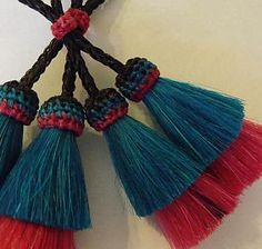 Horse Hair Tassels, Double Layer Style ~ 13 combination colors or made-to-order