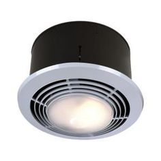 70 CFM Ceiling Exhaust Fan with Light and Heater 9093WH at The Home Depot -  Mobile