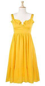 i want to frolick around in this (so sunny! that ruffle up top would bug my arms, but i love the color!)