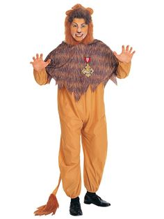 Halloween Cowardly Lion Costume for Adult