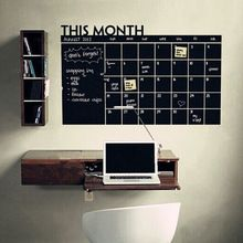 Hot! Craie Plan mois calendrier Wall Sticker Home Office chambre décor bricolage(China (Mainland))