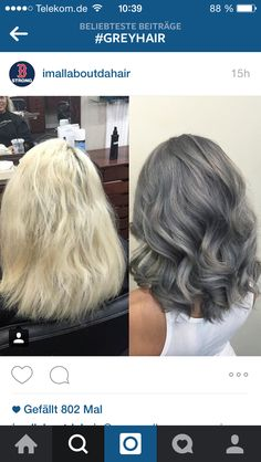 I have always wanted a ash grey hair...