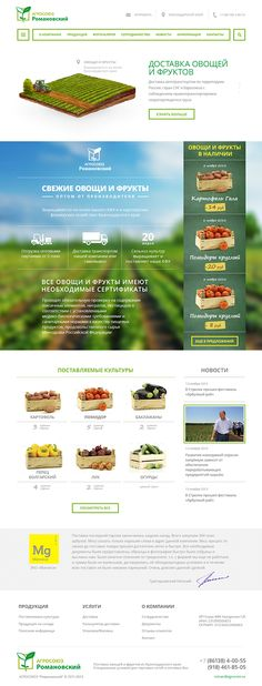 Agrosoyuz | Web-design on Behance