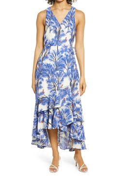 Adelyn Rae Nevina Tropical Print Sleeveless Wrap Dress | Nordstrom Nordstrom Dresses, Wrap Style, Wrap Dress, Clothes For Women, Tropical, Skirts, Vacation, Inspired, Color