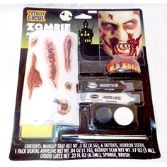 Zombie Makeup Face Paint Kit Tattoos NIP >>> Read more at the image link. (This is an affiliate link) #PartySupplies