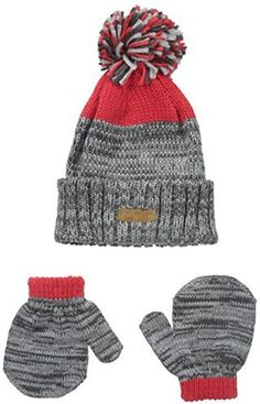 Carters Baby-Boys Cuffed Hat and Matching Mitten Set 8c9f4907fcde